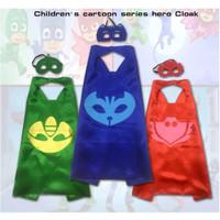 Jual PJ Mask cape and mask (topeng dan jubah) owlette catboy gekko Murah