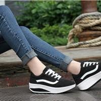Jual Sepatu Sneaker Wedges Cewek Wanita Kets Vans Murah Murah