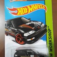 Hot Wheels 1990 Civic EF nouva nova hitam