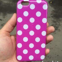 OP4680 FOR IPHONE 6 6S 47 INCH SOFT JELLY CASE POLKA DOT CASI KODE Bi