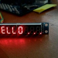 Seven Segmen Digital Max7219 8 Digit - Avr Atmega - Arduino Shield