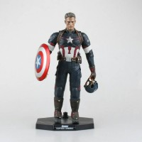 ACTION FIGURE CAPTAIN AMERICA HT 30 cm 12 Inchi HOT TOYS BOOTLEG SUPER