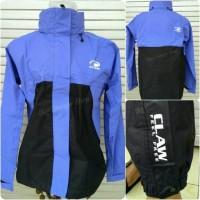 Jas Hujan Raincoat Jaket Claw Full Sealer Waterproof Hitam+biru muda