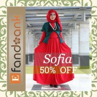 sale murah baju butik pesta sofia by efandoank original busana muslim