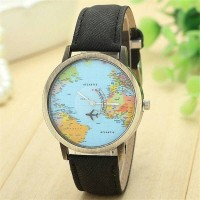 Jam Tangan maps / jam tangan globe GD1399 Hitam