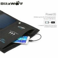 Jual BlitzWolf 15W Solar Power Bank Portable Dual USB Charger Solar Panel Murah