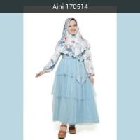 Jual Baju Muslim Anak Perempuan Balita TK SD, Gamis Pesta Anak Aini 170514 Murah