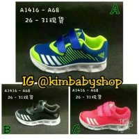 Jual Sepatu anak LED Adidas Kids A68 impor Murah