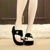 mr73 hitam (jual wedges heels slip on kets boots sandal sepatu wanita) 55a9bb9b8c