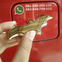 Emblem logo batman gold bahan metal stainless
