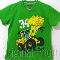 Kaos Anak Size 1-6 Oshkosh Work Zone Hijau | Kaos Karakter Anak Laki