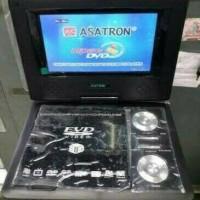 DVD PORTABLE ASATRON 8inch DV833 TV, USB, GAME,SD CARD FREE KC MATA 3D
