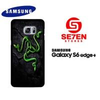 Casing Samsung S6 Edge Plus razer motif 2 Custom Hardcase