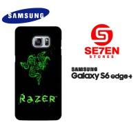 Casing Samsung S6 Edge Plus razer black Custom Hardcase