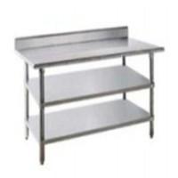 Stainless steel 3 susun meja laboratorium