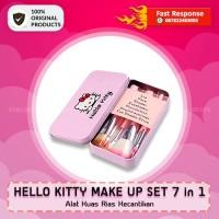 Jual HELLO KITTY MAKE UP SET 7 in 1 | Alat Kuas Rias Kecantikan | Original Murah