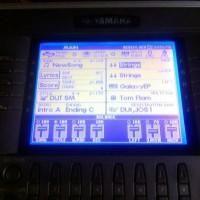 LCD untuk keyboard yamaha PSR 1000/1100