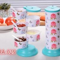 Jual promo peralatan dapur  Tempat Bumbu RA025 5 in 1 Set terdiri dari 5 Murah