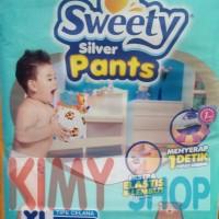 Popok Celana Bayi Sweety Silver Pants XL 44 Diapers