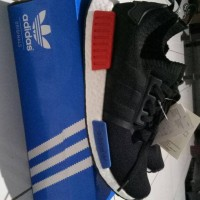 Jual Adidas NMD R1 Runner PK Coreblack Blue-Red REAL BOOST UA Quality Murah