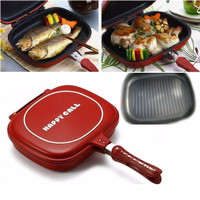 Jual [HOT SALE] Panci DOUBLE PAN HAPPYCALL Multifungsi 32cm / Teflon Jumbo  Murah