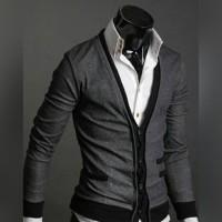 Cardigan Pria Cotton Rajut Halus Kualitas Premium