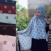 Jilbab Instan Pastan Bintang / Khimar / Hijab / Kerudung Langsungan