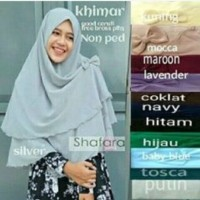 Jilbab Instan Shafara / Khimar / Hijab / Kerudung Langsungan Jumbo