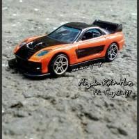 Jual Hotwheels Fast Furious Mazda RX7 Han Tokyo Drift (Custom-Loose) Murah