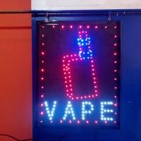 Tulisan Lampu Led Sign display TOKO VAPE KEREN - LIKE RUNNING TEXT