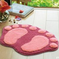 Keset kain Keset kaki wool bentuk telapak kaki rumah bersih - HPR102