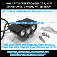 Owl Eye 3 Titik 30w Cree Led Hi Grade!!