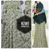 Fashion Muslim Gamis Maxi Dress Wolfis Super Khimar Bergo Syari Fruit