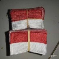 Jual Badge seragam / Bed bendera merah putih Bordir 3x5 Murah