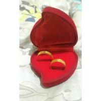 Kotak / Box tempat Cincin Bentuk Love Mawar isi 2
