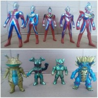 Ultramen series set isi 9 pcs - action figur