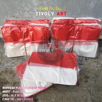 Bendera Merah Putih Plastik Isi 100 Pcs