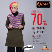Qirani Dewasa Melati 107 | Baju Perempuan Wanita Muslim Gamis Dress.