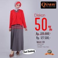 Qirani Dewasa Melati 104 | Baju Perempuan Wanita Muslim Gamis Dress.