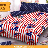 Sprei Kintakun D'luxe Uk.120 X 200 Motif United Flag