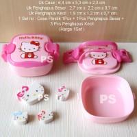 Hello Kitty Eraser or Penghapus + Box Case Rantang 1Set Pink Soft
