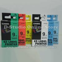 Casio GREEN 9mm Ez-Label Printer Tape Cartridge XR-9GN1