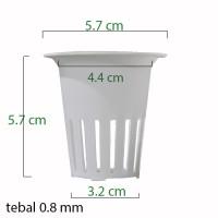 Jirifarm Net Pot Diameter 5 cm Tinggi 6 cm Putih (10482)