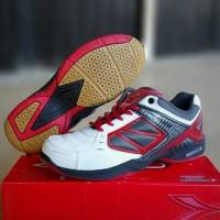 Sepatu Badminton Osaga White Red Original