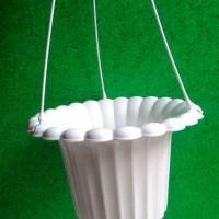 pot bunga gantung tipe mawar / vas bunga / pot plastik