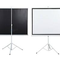 "Screen Projector Triport 70"" / Layar Proyektor Kaki 70"""