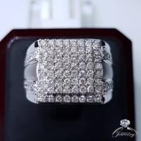 Mens Ring MURAH Cincin Pria Lelaki Emas Berlian Asli Natural Diamond