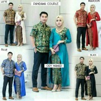 Jual Baju batik couple sarimbit seragam pesta hijab gamis muslim long dress Murah