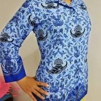 Seragam Kemeja Blus Katun Wanita Batik KORPRI PGRI Dinas PNS Panjang