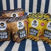 Jual IRVINS SALTED EGG POTATO CHIPS & FISH SKIN (READY STOCK) Murah